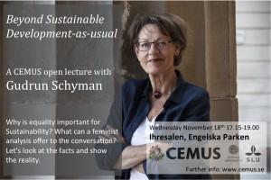 Gudrun Schyman, lecture promo